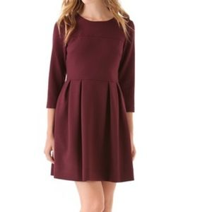 Shoshanna Maroon Leila Dress
